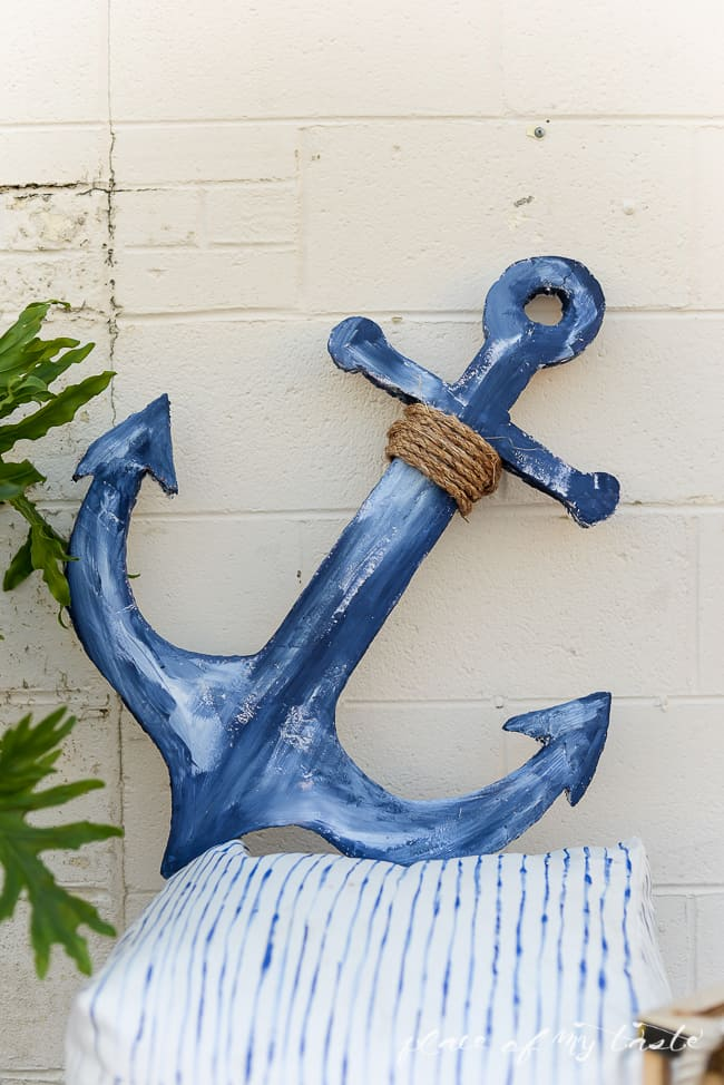DIY anchor SIGN out of foam-6