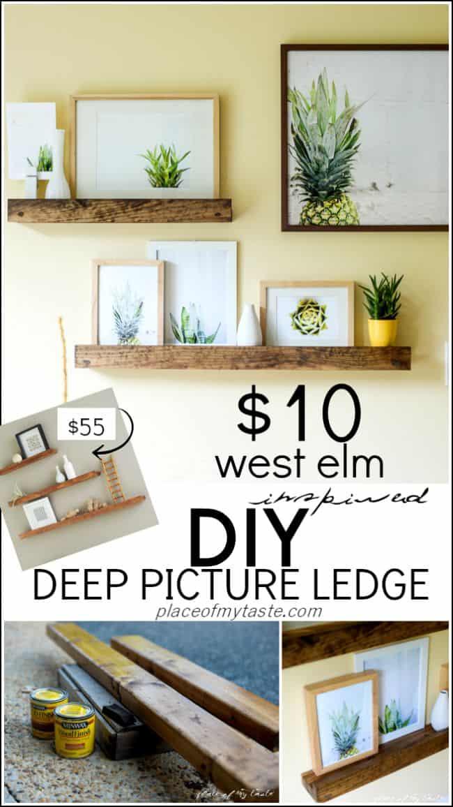 Deep picture ledge