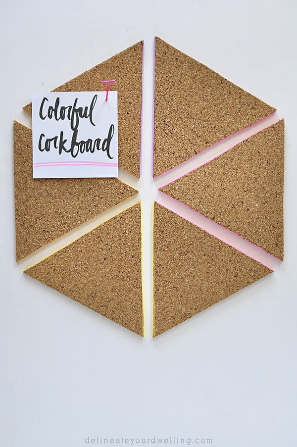 Colorful Triangle Cork board