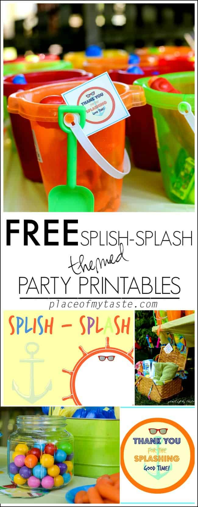 FREE SPLISH SPLASH THEMED PARTY PRINTABLES