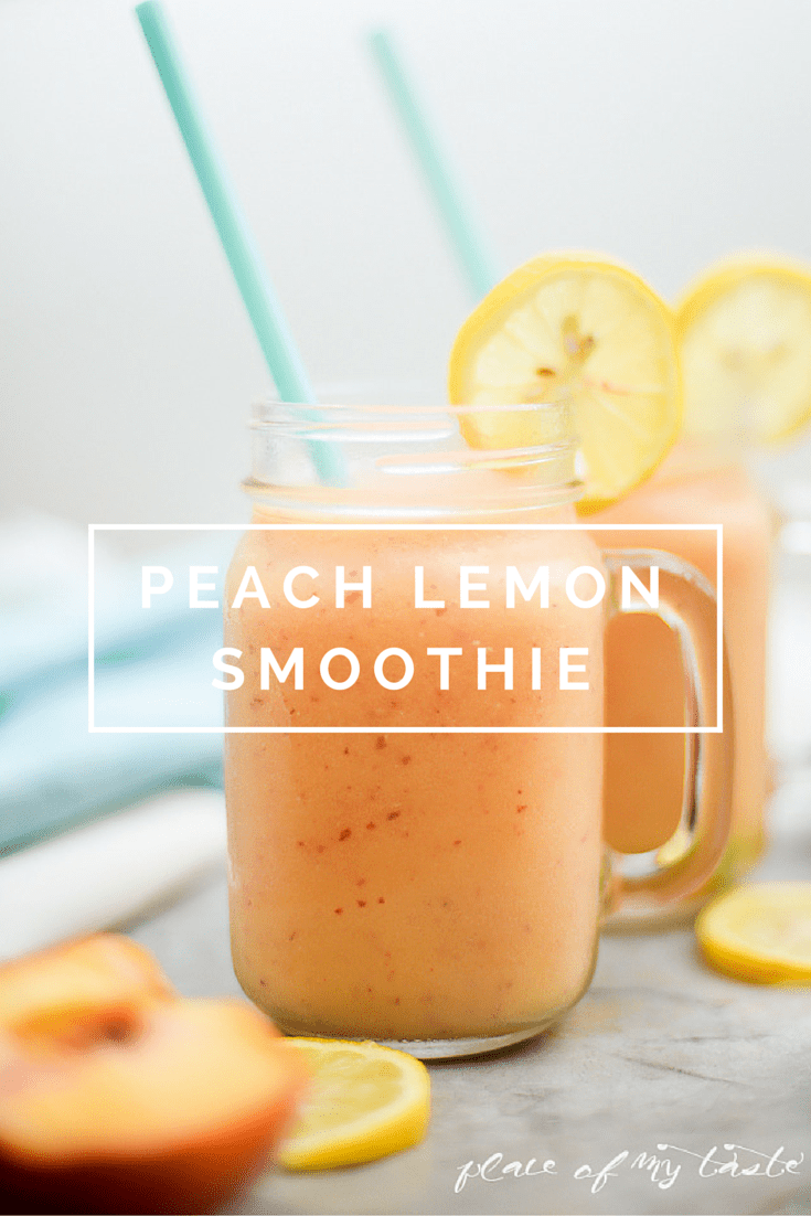 PEACH LEMON SMOOTHIE