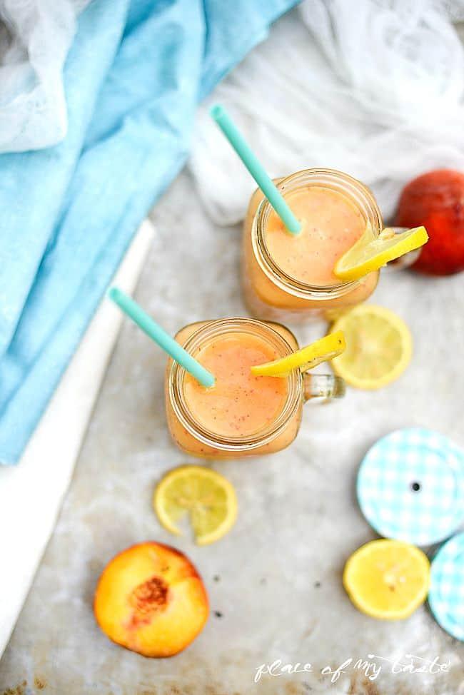 Peach Lemon smoothie-3