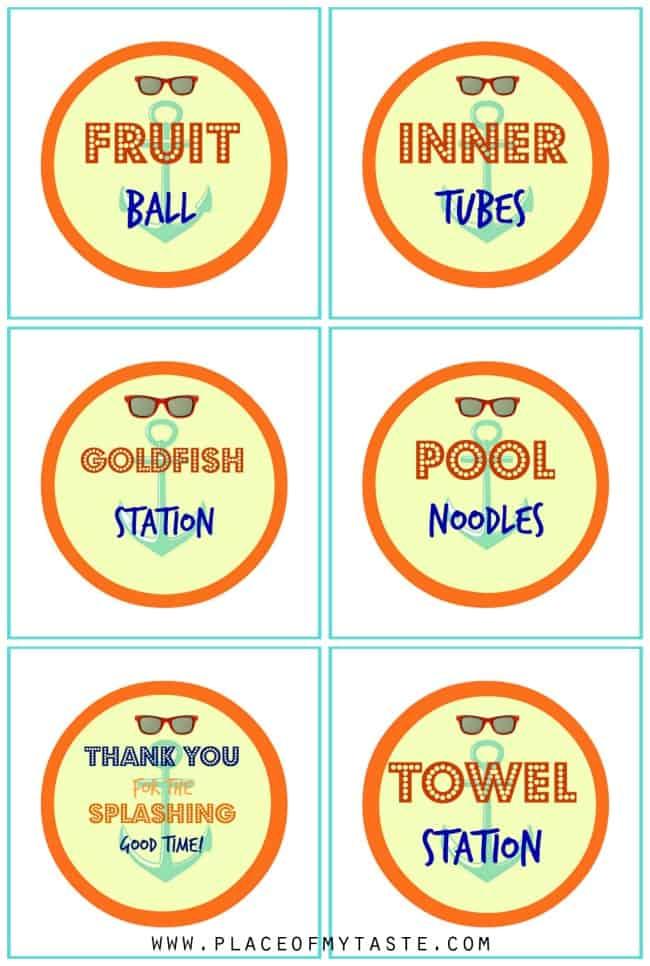 Splish Splash Party tags