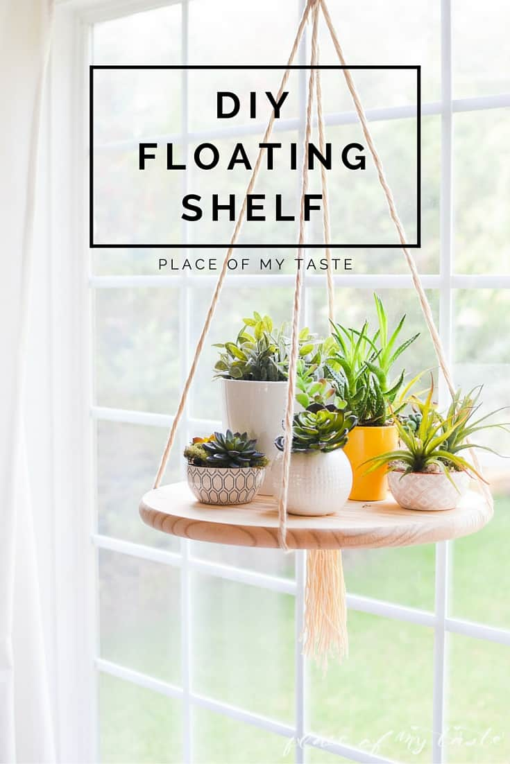 Diy floating shelf to display your plants or other decor items for Homemade home decoration items