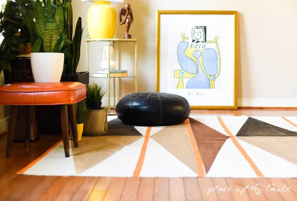 Painted rug -2