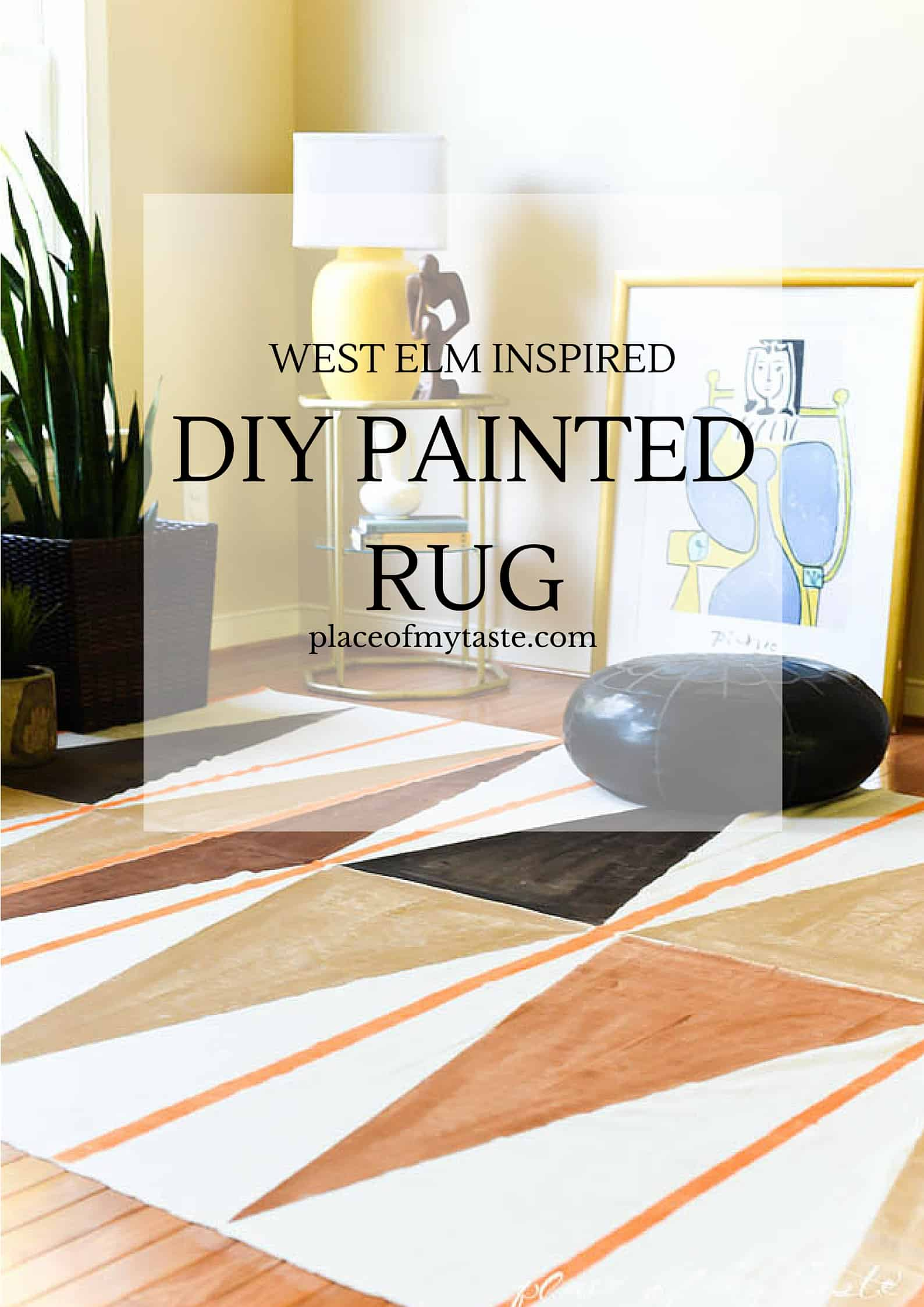 diy painted rug1