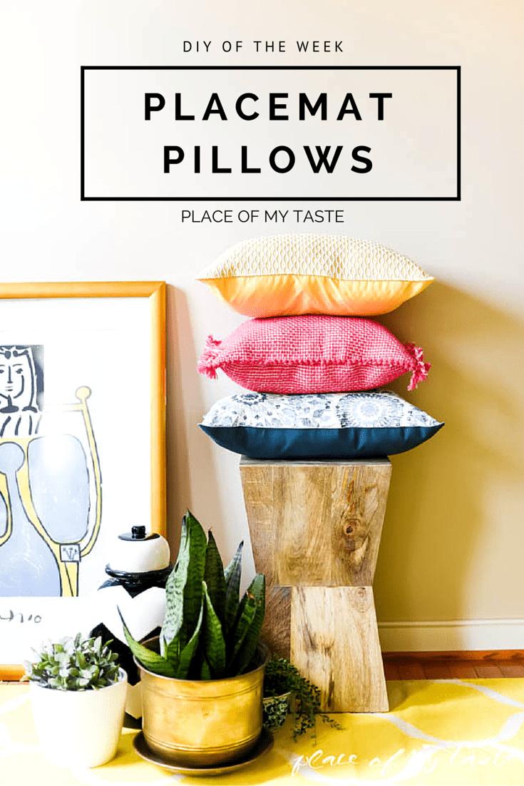 diy placemat pillows