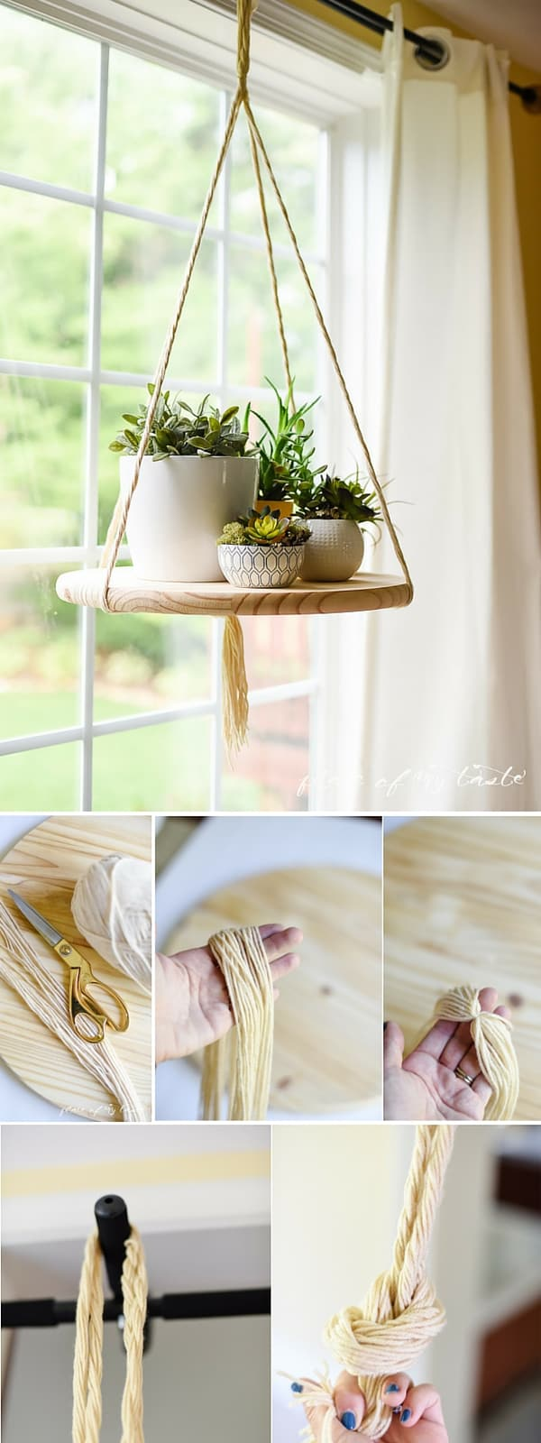 diy floating shelf to display your plants or other decor items. Black Bedroom Furniture Sets. Home Design Ideas