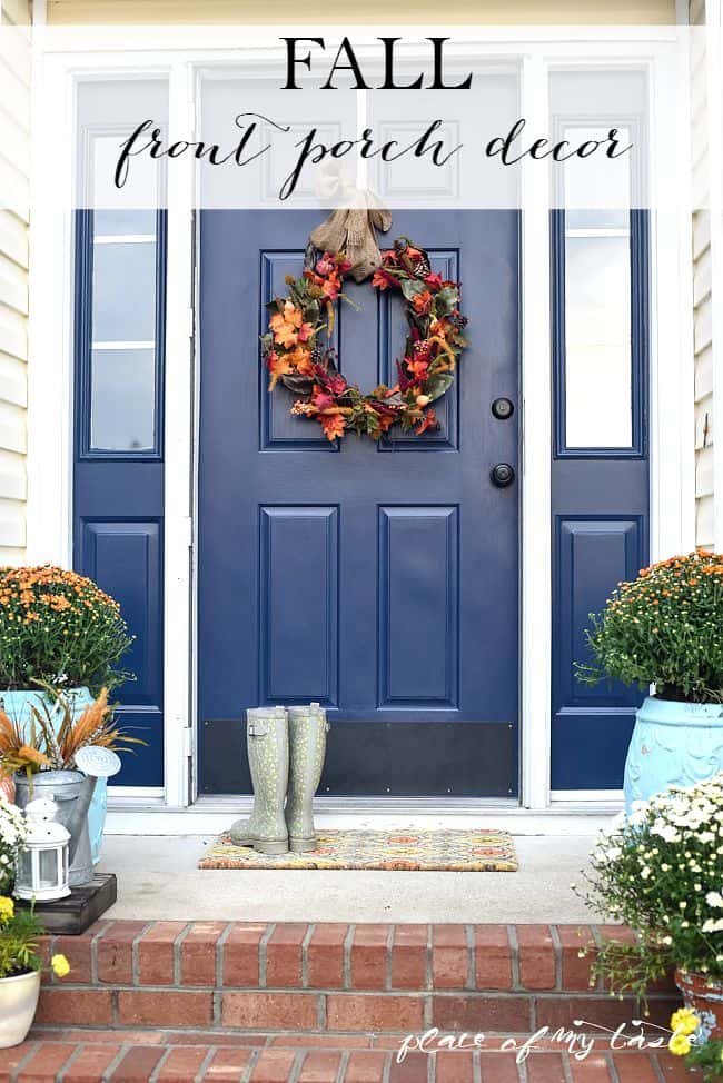 fall front porch decor - Porch Decor