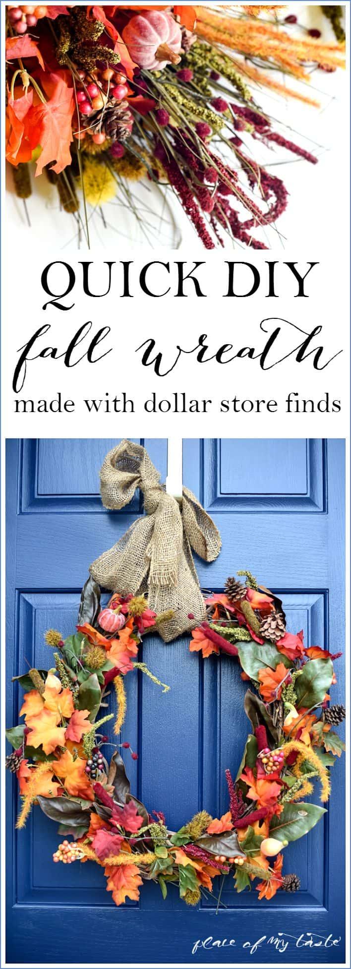 easy fall wreath