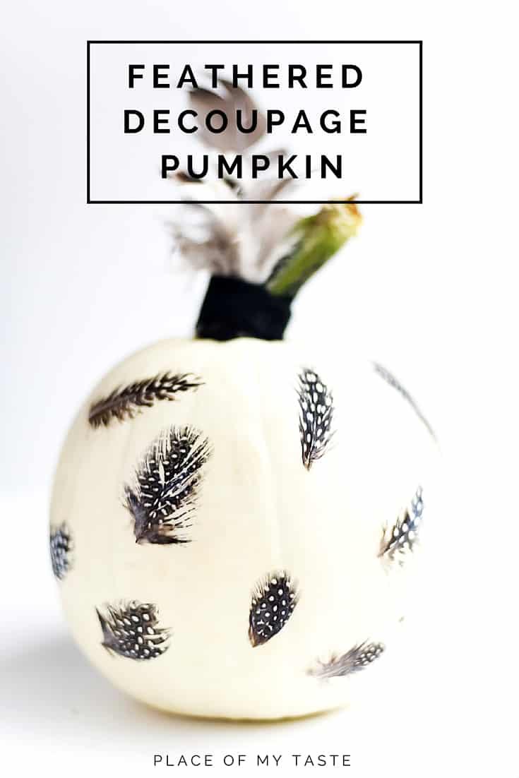 feather decoupage pumpkin (3)