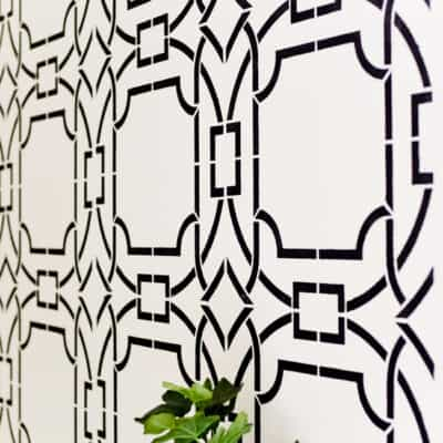 CREATING A DRAMATIC WALL WITH CONTEMPO TRELLIS WALL STENCIL