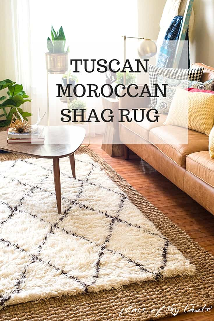Tuscan Moroccan Shag Rug In The Living Room