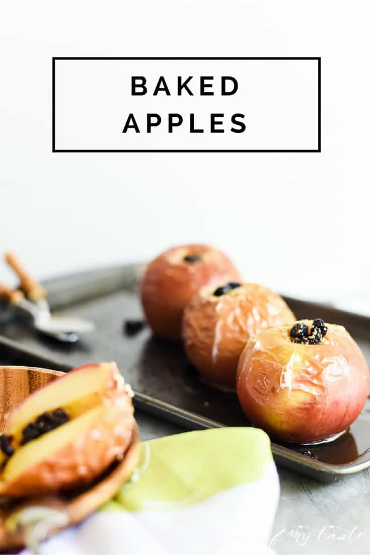 Super easy baked apples, done in under 30 minutes.