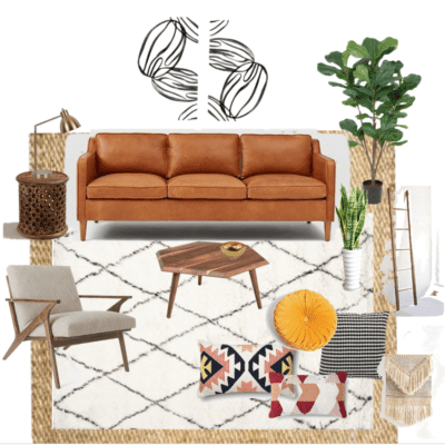 BOHO CHIC LIVING ROOM PLANS { One Room Challenge™}