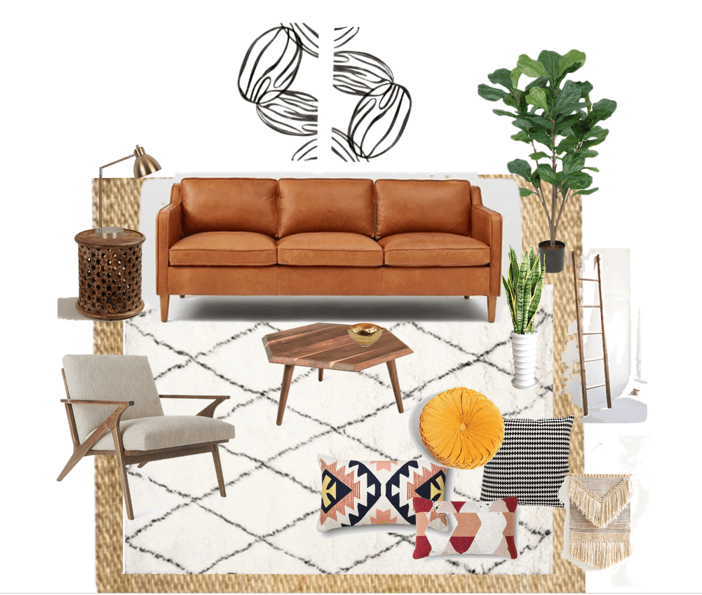 boho chic living room plans { one room challenge™} - place of my taste