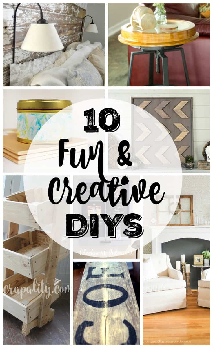 10 fun and creative DIY projects featured at Work it Wednesday