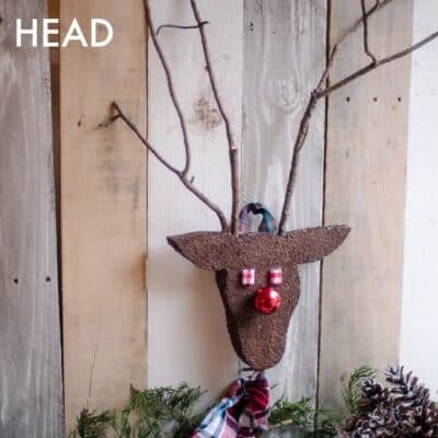 DIY REINDEER HEAD