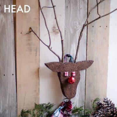 DIY REINDEER HEAD