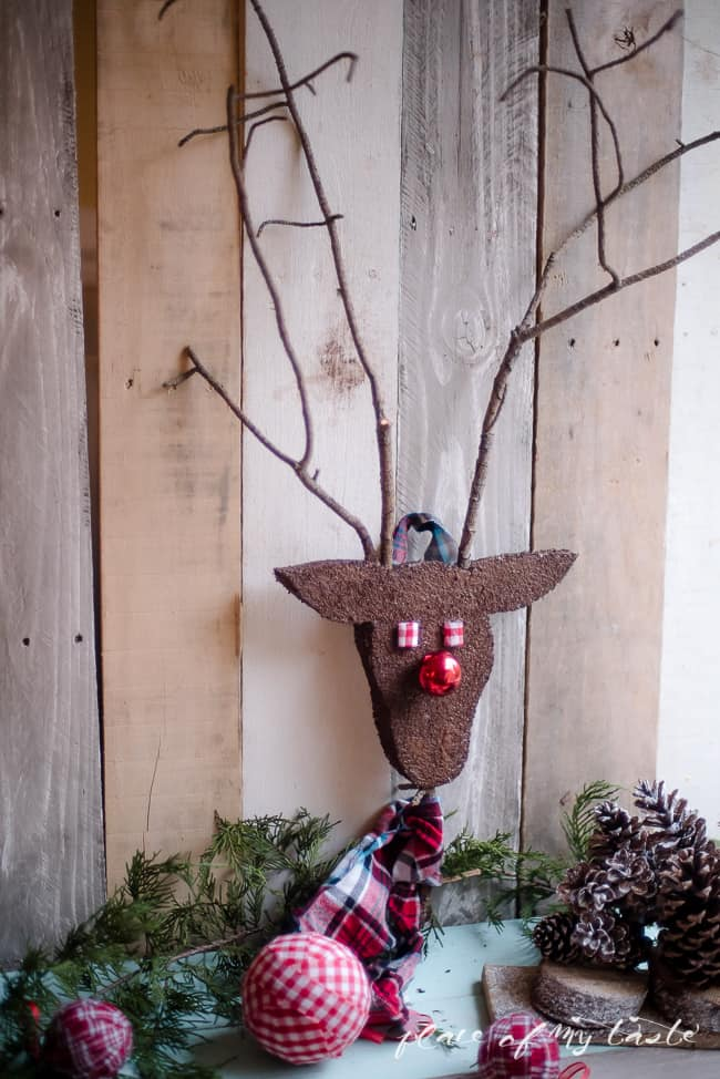 DIY REINDEER HEAD ornament