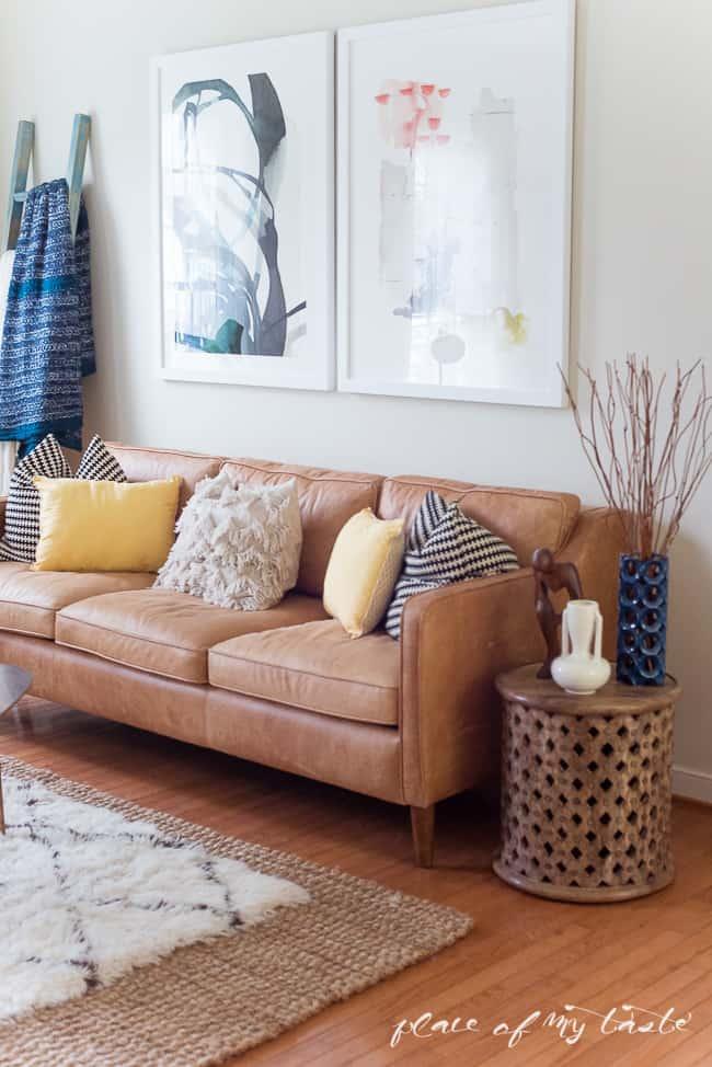 Fun And Bright Boho Living Room Decor