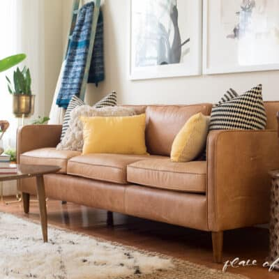 LIVING ROOM REVEAL AND MINTED GIVEAWAY