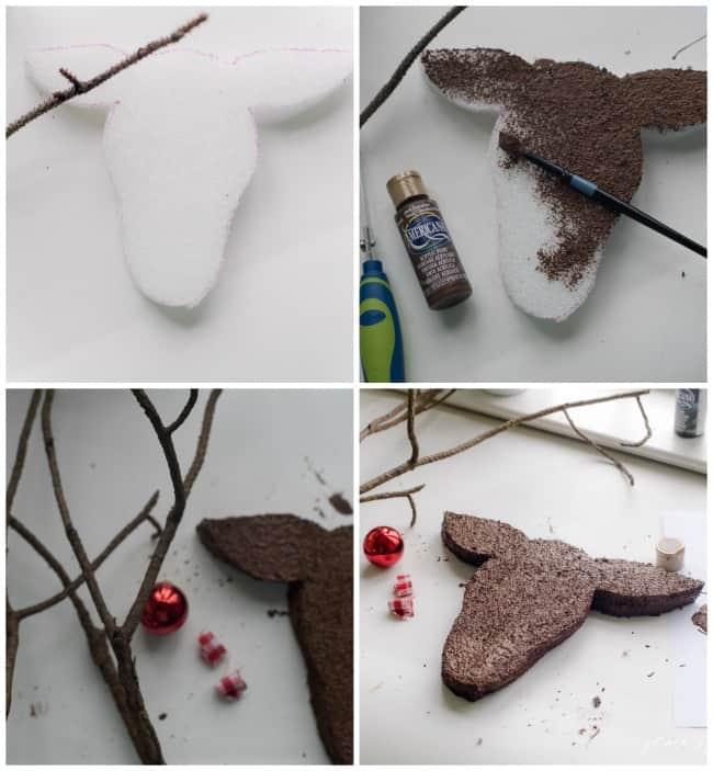 DIY REINDEER HEAD ornament