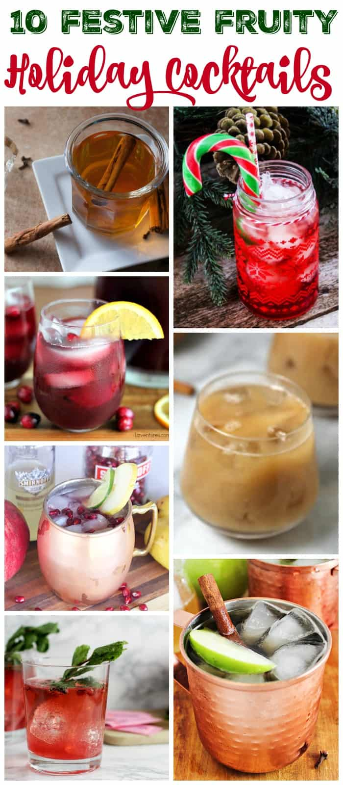 10 festive and fruity holiday cocktail recipes perfect for your Christmas parties or holiday guests
