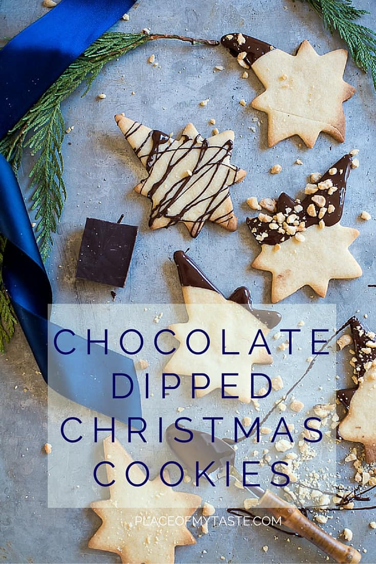 CHOCOLATE DIPPED CHRISTMAS COOKIES