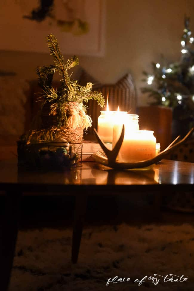 CHRISTMAS decor AT NIGHT