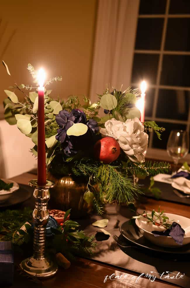 CHRISTMAS table AT NIGHT