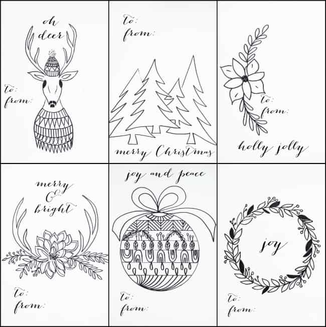 image regarding Christmas Tag Free Printable known as Cost-free PRINTABLE Xmas TAGS THAT By yourself CAN Coloration