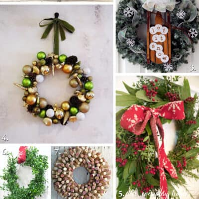 10 DIY HOLIDAY WREATHS ( WORK IT WEDNESDAY)