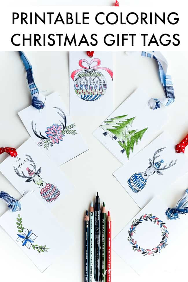 free printable christmas tags - Printable Coloring Christmas Pictures