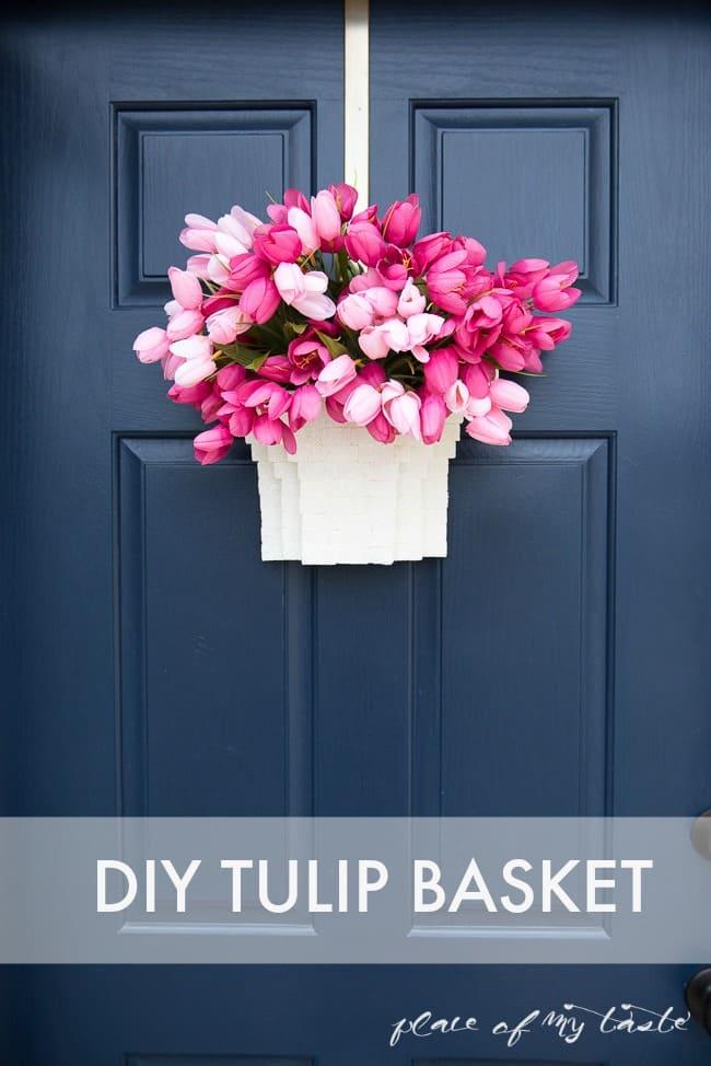 DIY TULIP BASKET- SPRING DOOR DECOR 1(3 of 4)