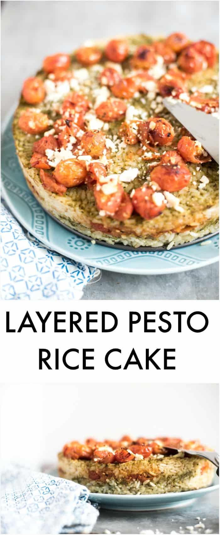 LAYERED PESTO RICE CAKE_