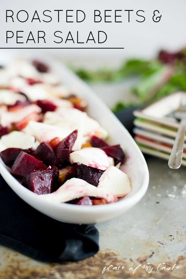 Roasted beets & pear salad