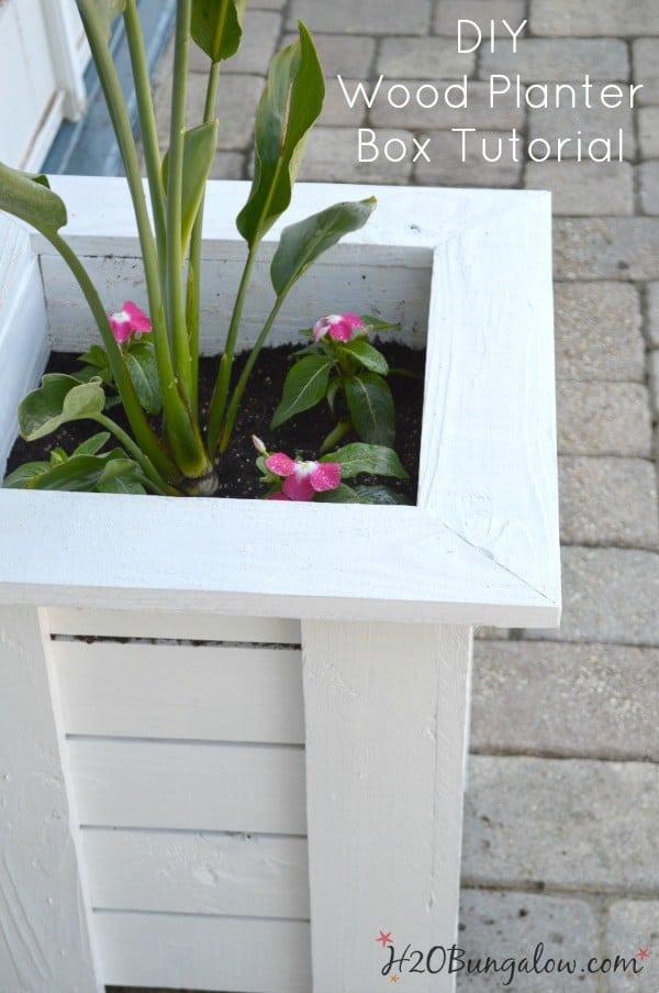 DIY-Wood-Planter-Tutorial-Key-West-Style-Planter-Box-H2OBungalow