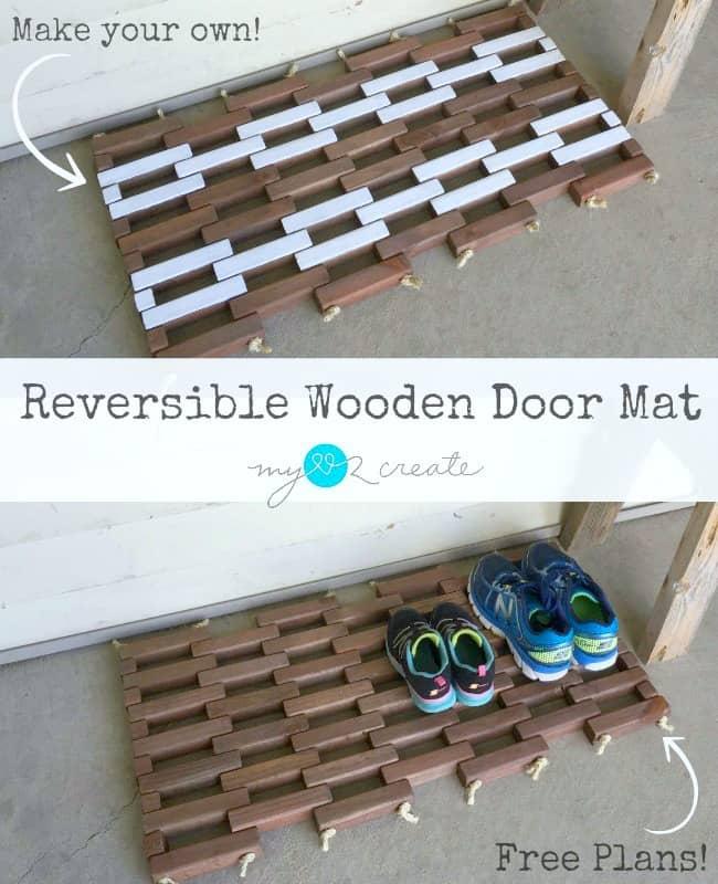 reversible door mat pin,MyLove2Create