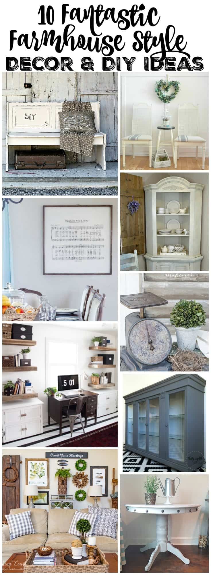 10 FARMHOUSE STYLE DECOR & DIY IDEAS - PLACE OF MY TASTE