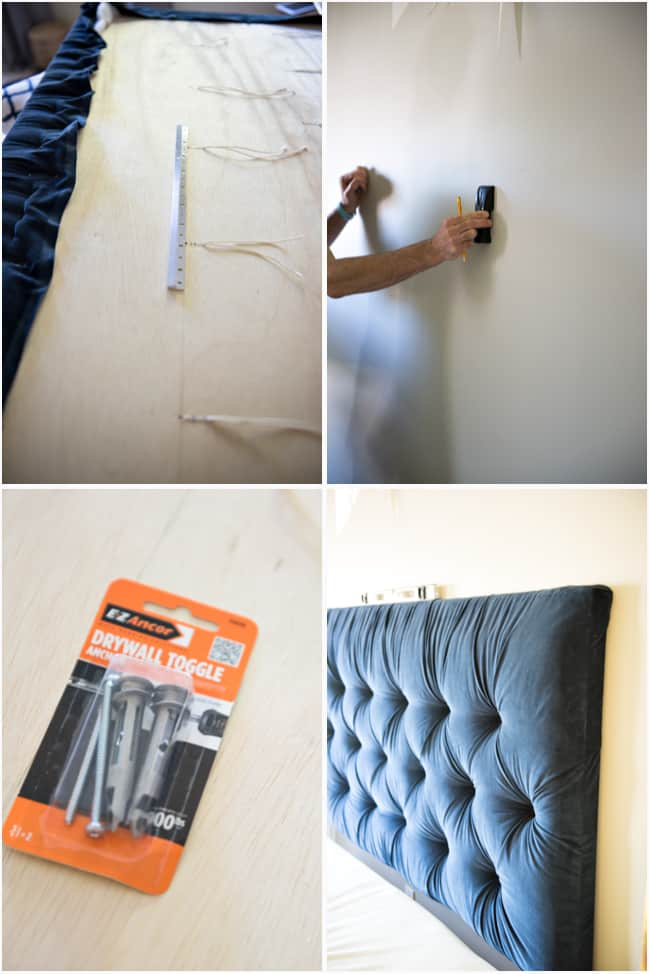 Remarkable Tufted Headboard How To Make It Own Your Own Tutorial Machost Co Dining Chair Design Ideas Machostcouk