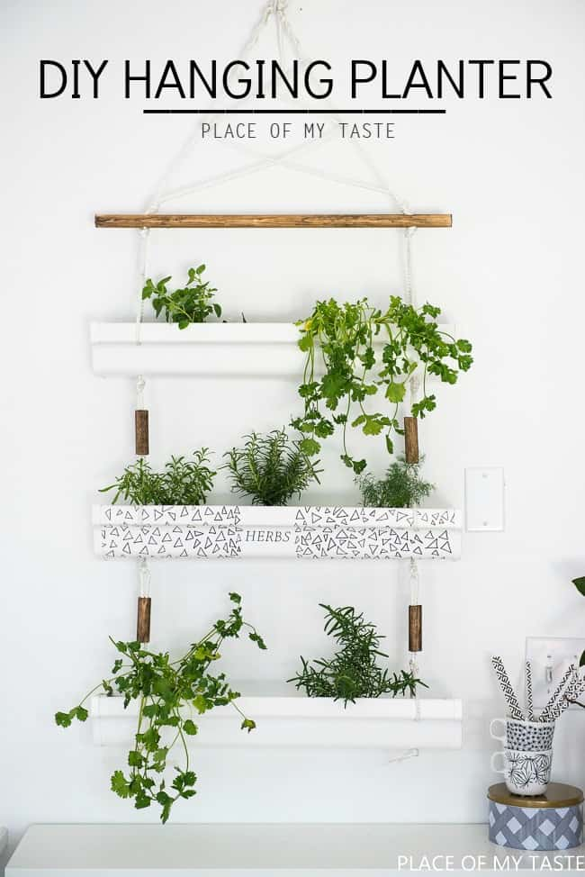 gutter hanging planter - Diy Hanging Planter