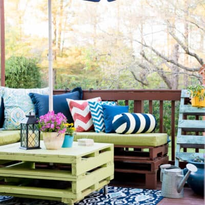 PALLET PATIO|SPRING REFRESH|Blogger Stylin' Home tours