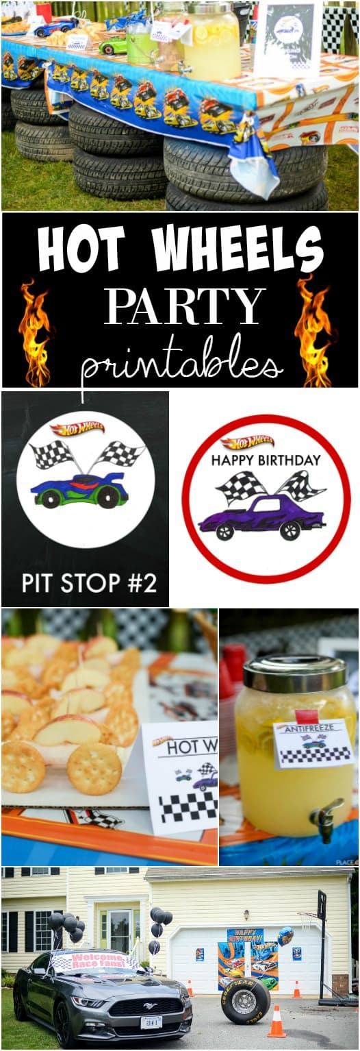 HOT WHEELS PARTY  PRINTABLES