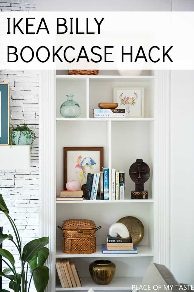 how to make ikea billy bookcase built ins place of my taste. Black Bedroom Furniture Sets. Home Design Ideas