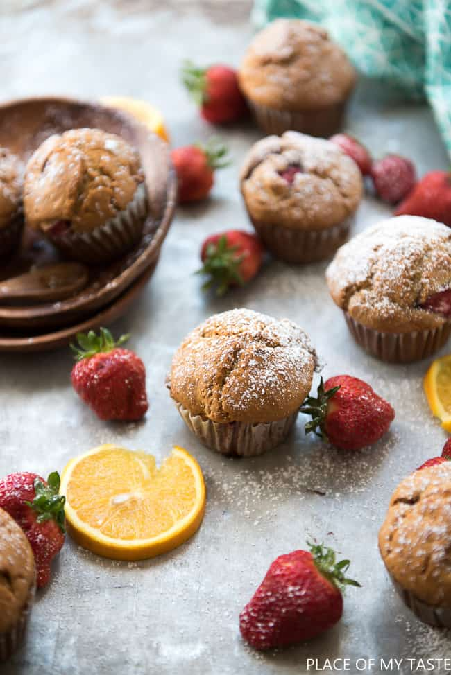 Strawberry Orange muffin-5