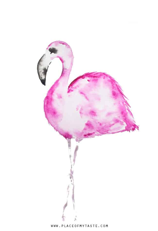 FREE printable PINK FLAMINGO ART - PLACE OF MY TASTE on decorating with giraffes, decorating with chickens, decorating with palm trees, decorating with penguins, decorating with horses, decorating with amazing grace,