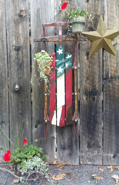flag sled planter