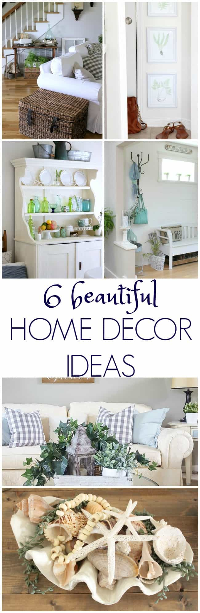 6 beautiful home decor ideas featured on Work It Wednesdays