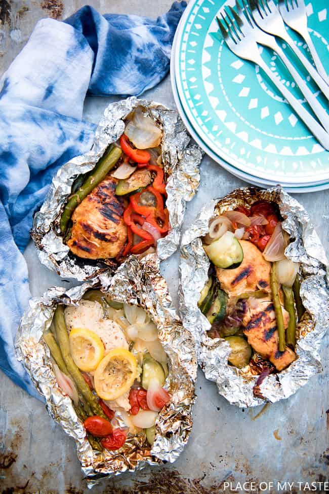 Grilled Chicken Foil packs recipe-1